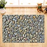 Red Gray Red Multi Stones Right angle bathroom mat Gothic door mat children 40X60CM
