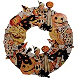 Bethany Lowe Halloween Vintage Style Wooden Wreath