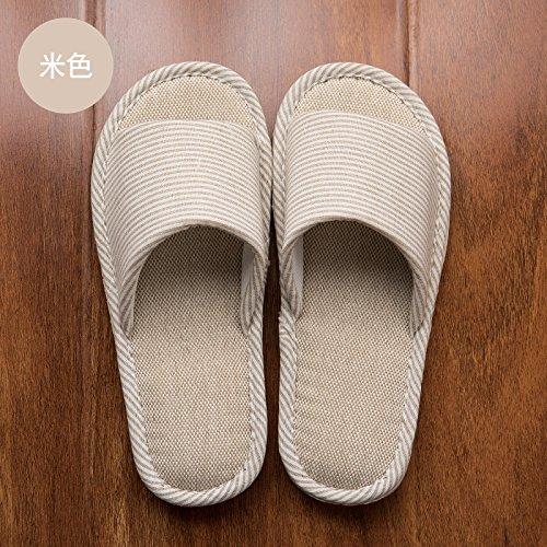 Cubierta verano cool piso Amarilla madera 37 nbsp;Ropa 38 un Fankou parejas de Luz zapatillas casa de en A gruesa antideslizante zapatillas algodón de de hembra verano Estadía TEpOwqz