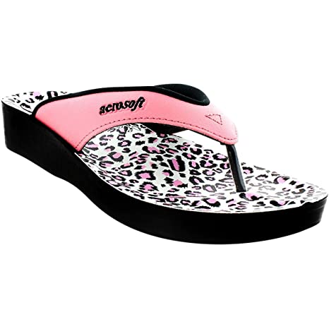 2791a32df71 Image Unavailable. Image not available for. Color  Aerosoft Leopard Women s  Sandals Pink ...