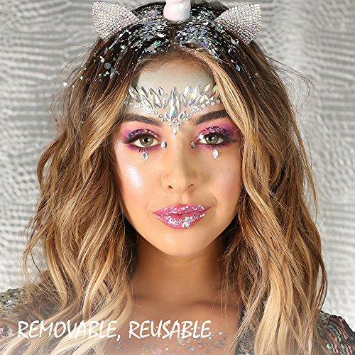 Face Jewels Festival Stick On - Mermaid Face Gems Glitter Rhinestone Rave  Festival Face Jewel Bindi e86c57b1fa22