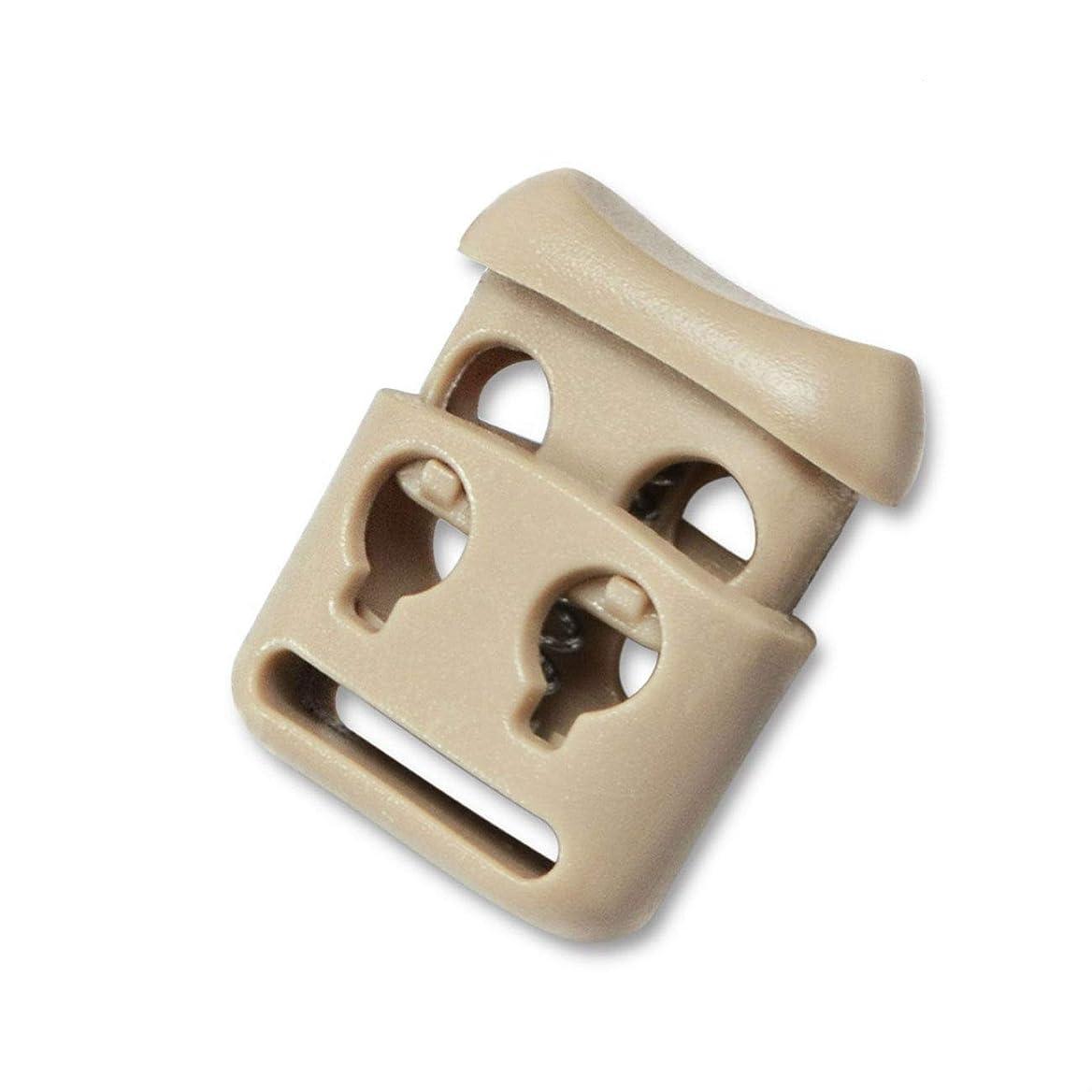ビリー壮大観点Perfeclan 約50個 コードストッパー 15mm プラスチック スプリング 単穴 スポーツウェア 衣類 軽量