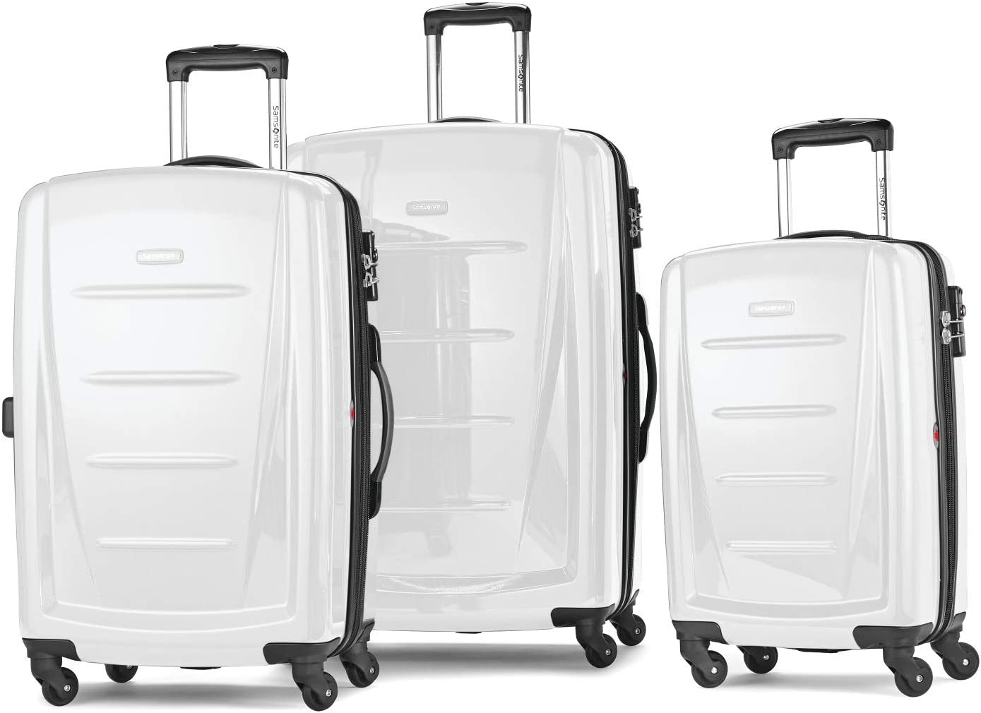 Samsonite Winfield 2 Hardside Expandable Luggage with Spinner Wheels, Brushed White, 3-Piece Set (20/24/28)