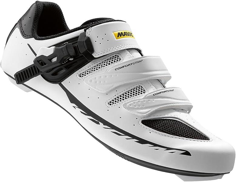 Amazon.com | Mavic Ksyrium Elite II Maxi Fit Road Shoes - WHITE/BLACK, 11.5 UK (US 12) | Cycling