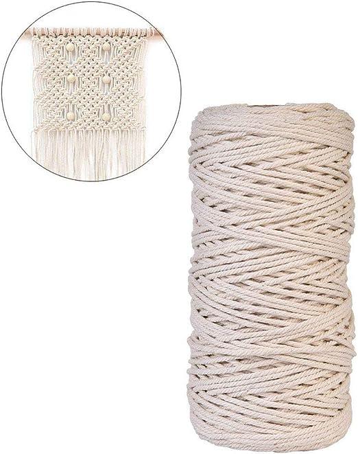 Tolyneil Cordón de macramé, Cuerda de algodón Natural Hecho a Mano ...