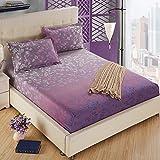 SL&CL Cotton bed cover,Single 1.5 m 1.8m bed cotton non-slip mattress cover dust cover eco-friendly hypoallergenic fabric sides-U 150x200cm(59x79inch)