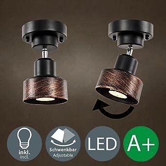LED Luz Focos de Techo Lámpara de Pared Retro Industria ...