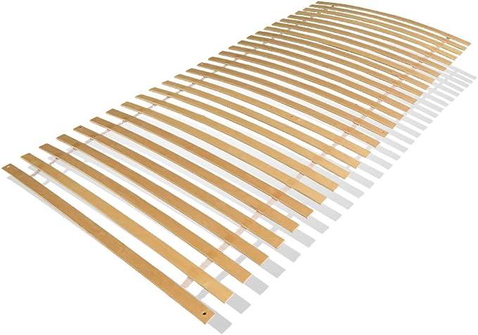 wolketon Somier Colchón, somier Enrollable 90 * 200/100 * 200cm lámina de Madera para somier Resistente con 28 Placas de Cama 6 Agujeros para ...