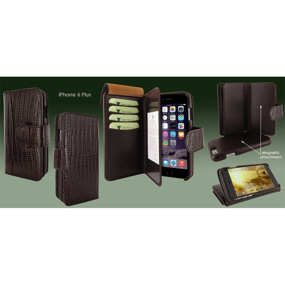 Piel Frama Wallet Case for Apple iPhone 6 Plus - Lizard Brown