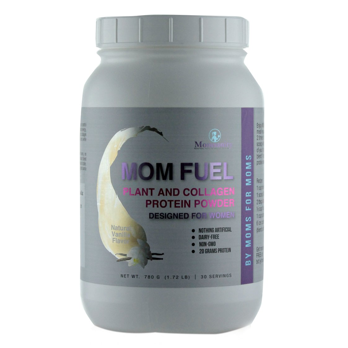 MOM Fuel - All-Natural, Plant and Collagen Protein Powder - Vanilla by Momsanity