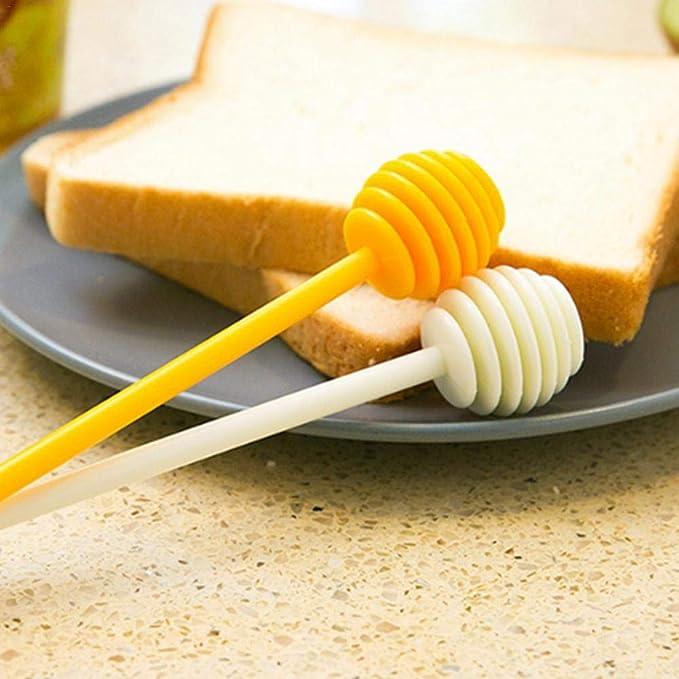 Futurelast - Juego de 2 palitos de plástico para tarta de miel, café, leche, té, miel, cortapelos largos: Amazon.es: Bricolaje y herramientas