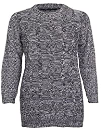 Friendz Trendz-Womens Cable Knitted Chunky Jumper Sweater Top