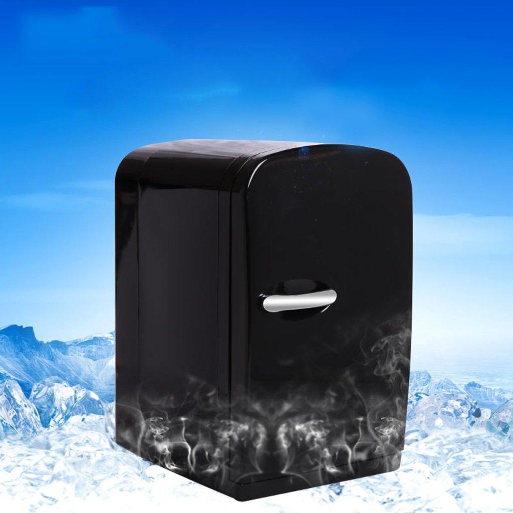 Mini Kühlschrank Kun Peng Shop 6L Auto Student Wohnheim Wohnung Büro Gefrierschrank tragbaren elektronischen Kühlschrank (Farbe : Schwarz)