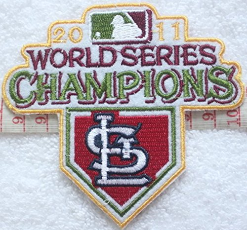St. Louis Cardinals 2011 World Series Champions Logo Baseball MLB Embroidered Iron On Patches Hat Jersey 4 x 3 (St Louis Cardinals World Series Champions)