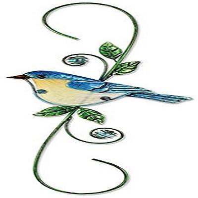 Sunset Vista Designs Metal and Glass Decorative Blue Bird Hook : Garden & Outdoor