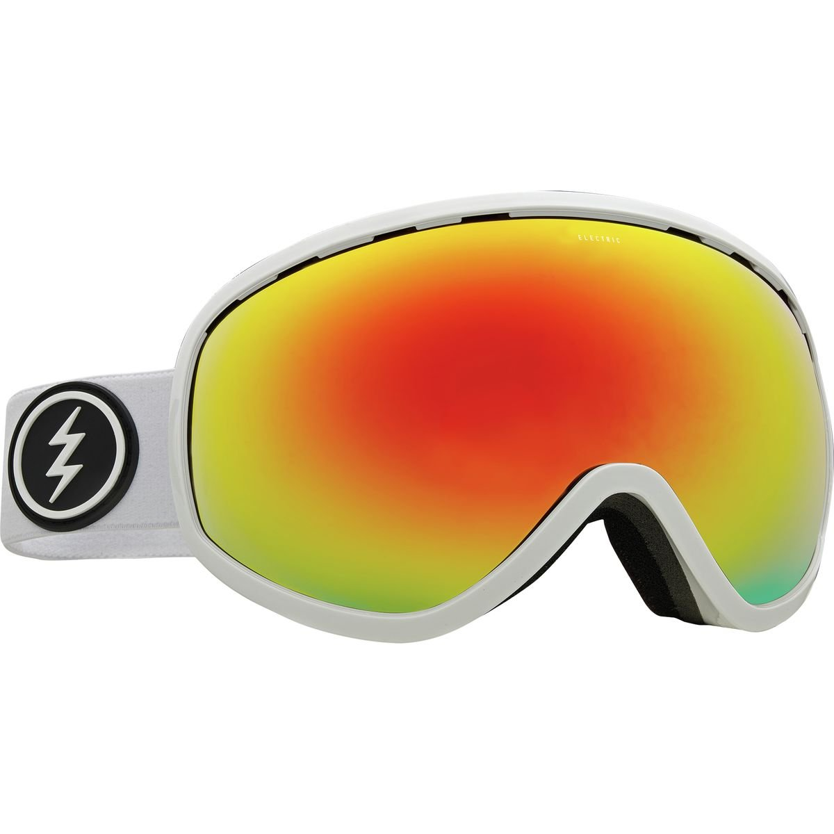 Light Green 2018 Gloss White//Brose Red Chrome Electric Masher Goggle