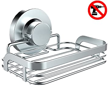 improved home so soap dish with suction cup holder u2013 bathroom shower caddy tray