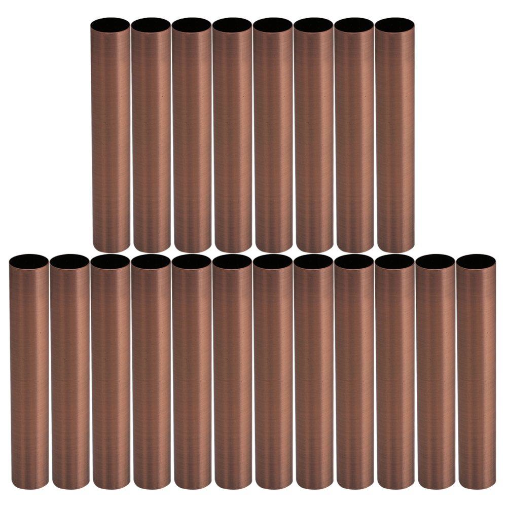Mxfans 20x Red Bronze Candelabra Socket Light Cover M16 for European Pendant