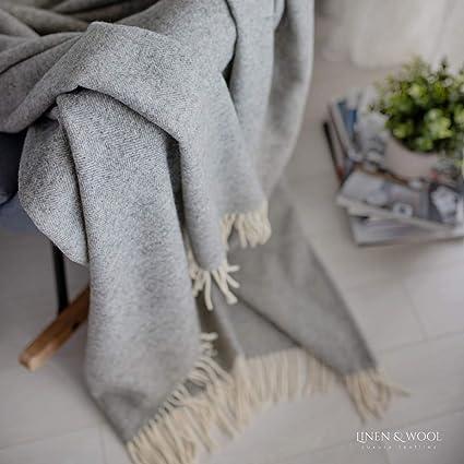 Decke Wohndecke Sofadecke Tagesdecke Überwurf Muster Blau Türkis Rot Grau
