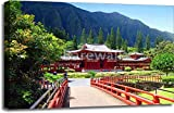 Byodo-In Buddhist Temple, Oahu, Hawaii Gallery Wrapped Canvas Art (24in. x 36in.)