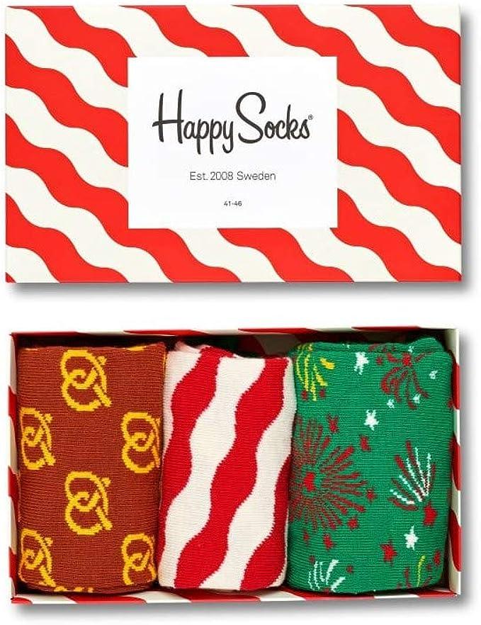 Happy Socks Caja De Regalo Varonil 3-pack Navidad Calcetines ...