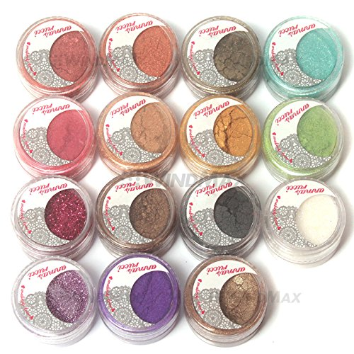 WindMax US Store 15 Cold Smoked Color Glitter Shimmer Pearl Loose Eyeshadow Pigments Mineral Eye Shadow Dust Powder Makeup Party Cosmetic Set #B