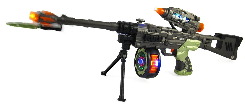 Gangster Tommy - Ametralladora de juguete con luces y sonido, 71 ...