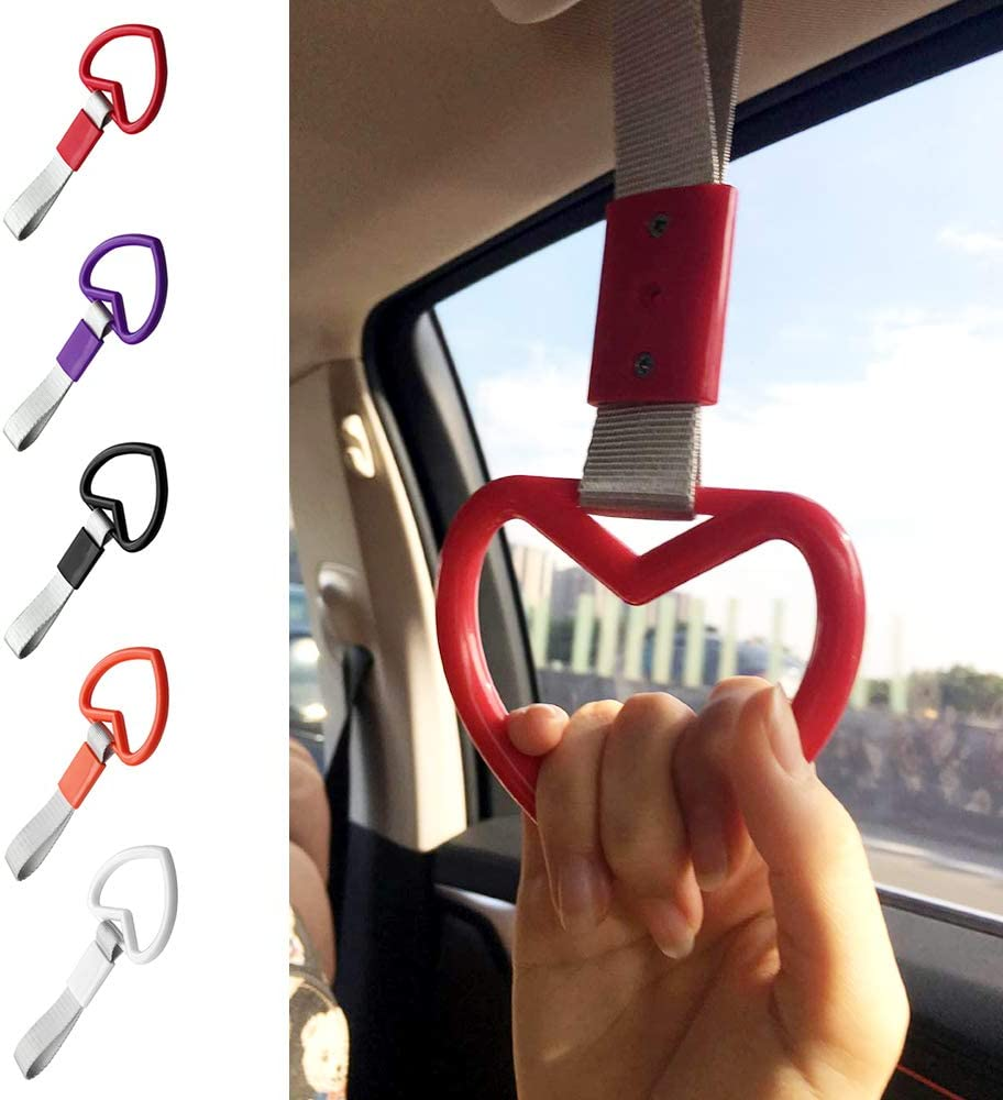 Ring Heart JDM Train Bus Handle Hand Strap Drift Charm Strap Drift Handle Strap Drift Charm