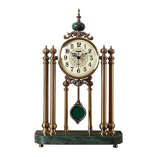 Shwk Reloj de Escritorio pequeño hogar Swing Reloj Mesa Escritorio ...
