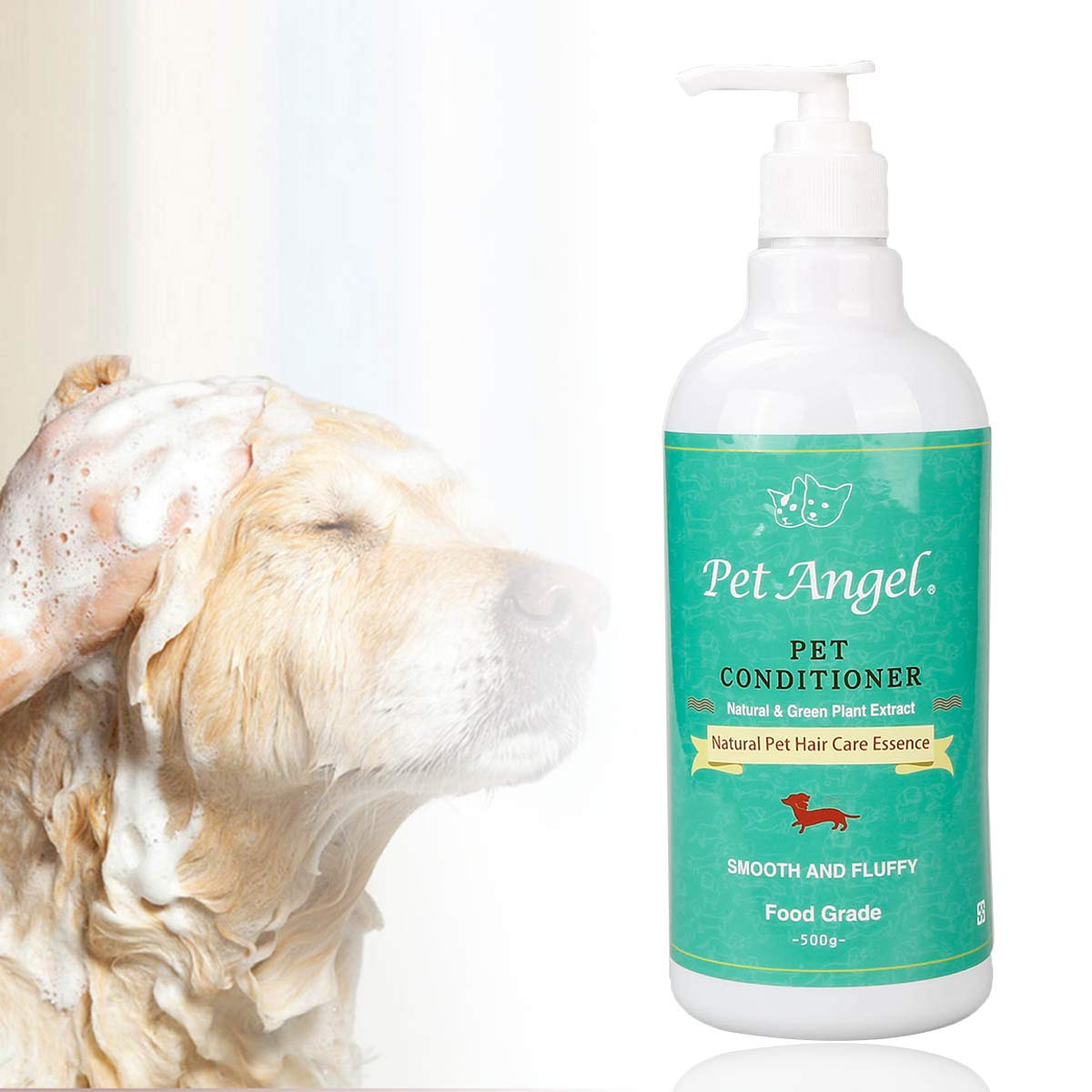 HeCloud Pet Shampoo and Pet Conditioner Kit -100% Natural Plant Formula, Suitable for Dogs and Cats