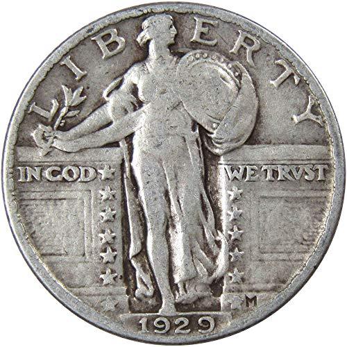 1929 25c Standing Liberty Silver Quarter VG Very Good (Standing Liberty Quarter 1929)