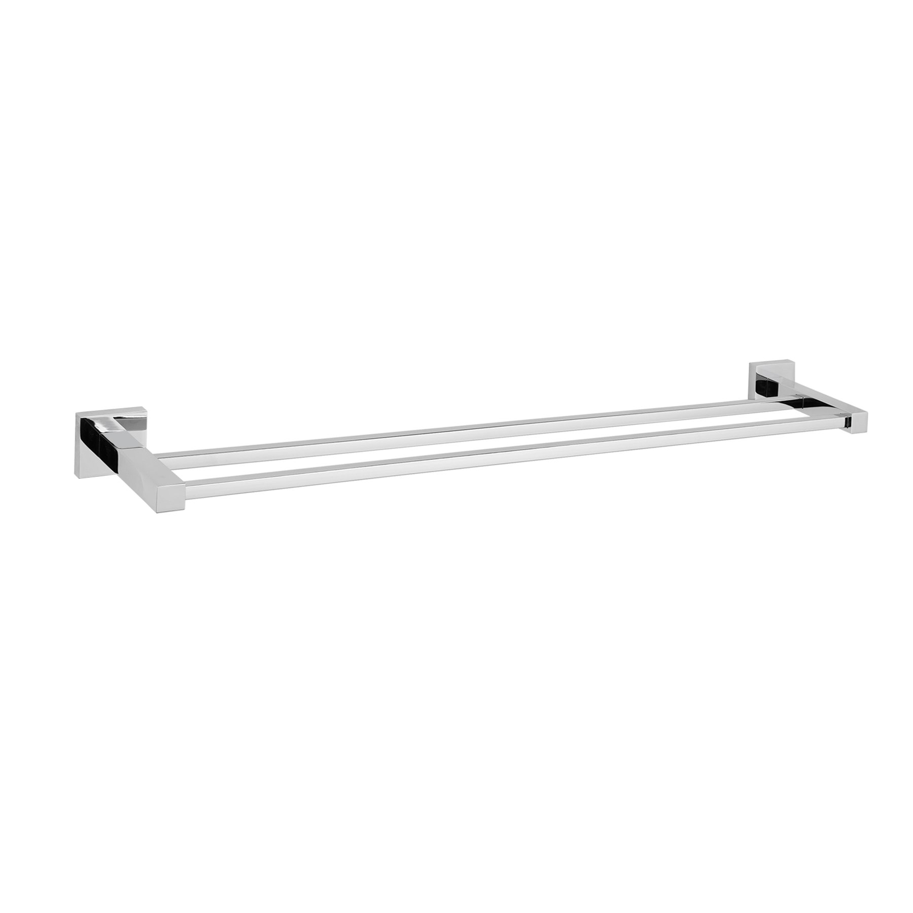 MAYKKE Zane 25'' Stainless Steel Double Towel Bar | Modern Wall Mounted Towel Holder for Bathroom, Kitchen, Shower | Polished Chrome, XYA1000901 by Maykke (Image #6)