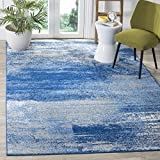 Safavieh Adirondack Collection ADR112F Silver and Blue Modern Abstract Area Rug (4' x 6')