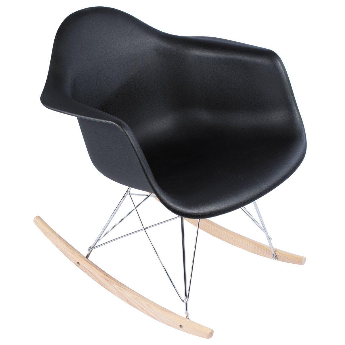 Phenomenal Amazon Com Polivaz Eames Style Mid Century Modern Rocking Inzonedesignstudio Interior Chair Design Inzonedesignstudiocom