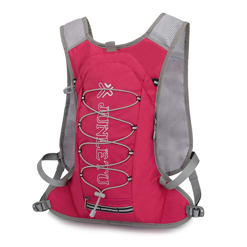 Pink Cycling Lightweight Backpack Trail Running Backpack Outdoor Sports Backpack Cycling Backpack for Men Women Kid for Marathon Cycling Outdoor Running