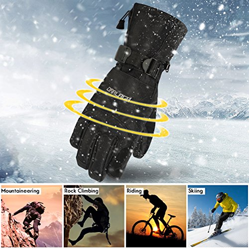 Thinsulate Men's Ski Gloves,Warmest for Skiing Snow Snowboard Winter Cold Weather Glove
