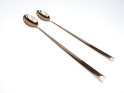 2 Hielo té Cuchara/ICE Tea Spoons arco en cobre de herdmar