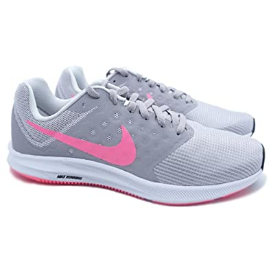 Nike - Downshifter 7 (Vast Grey/Sunset Pulse/Atmosphere Grey) Women's  Running