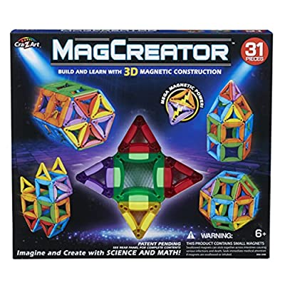 Cra-Z-Art Magcreator 31Piece Magnetic Construction Set: Toys & Games