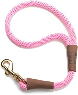 product image for Mendota Pet Traffic Leash - Short Dog Lead - Made in The USA - Pink, 1/2 in x 16 in