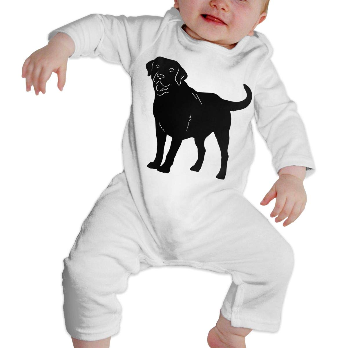A1BY-5US Infant Baby Girls Cotton Long Sleeve Labrador Baby Clothes One-Piece Romper Clothes