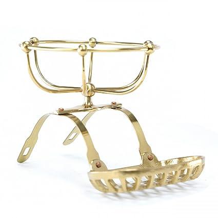 Amazon.com: Tub Caddies Bright Solid Brass Roll Top Tub Soap/Sponge ...