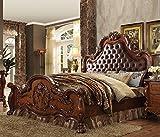 1PerfectChoice DRESDEN CHERRY OAK QUEEN SLEIGH BED