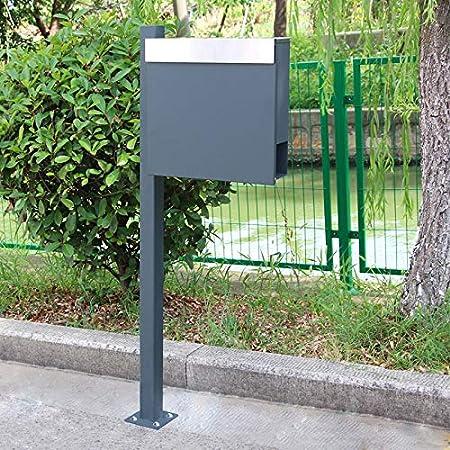 120cm, Silber LARS360 Standbriefkasten Standfu/ß St/änder Edelstahl Briefkastenst/änder f/ür Edelstahl Briefkasten Postkasten Mailbox Zeitung Wandbriefkasten Post Briefkastenanlage Letterbox