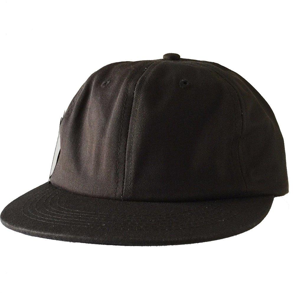 Amazon.com  Unstructured Plain Dad Hat Flat Bill Adjustable Buckle Strap  Baseball Cap  Clothing 73ecc2074fa