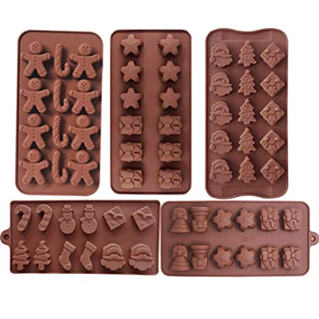 Amazon.com: Moldes de silicona de Navidad para chocolate ...