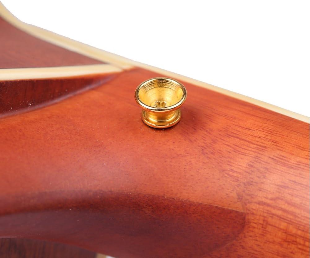 KENPMA Botones metálicos para correa de guitarra, con tornillos de ...