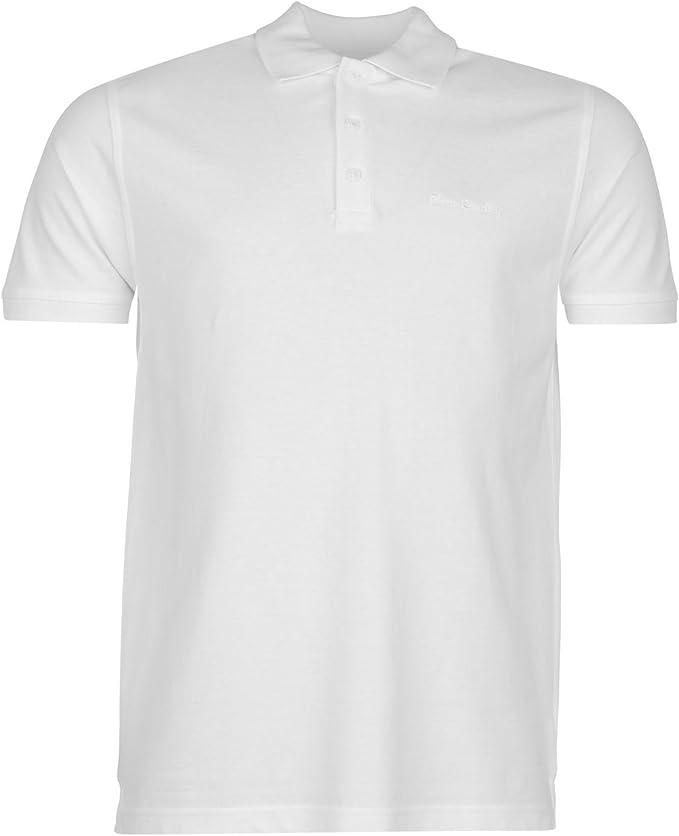 Pierre Cardin Plain Polo Shirt Mens camiseta blanca Top Tee ...