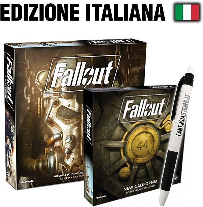 Fantàsia Fallout Bundle - Fallout Gioco Base, Fallout New California + Penna: Amazon.es: Juguetes y juegos
