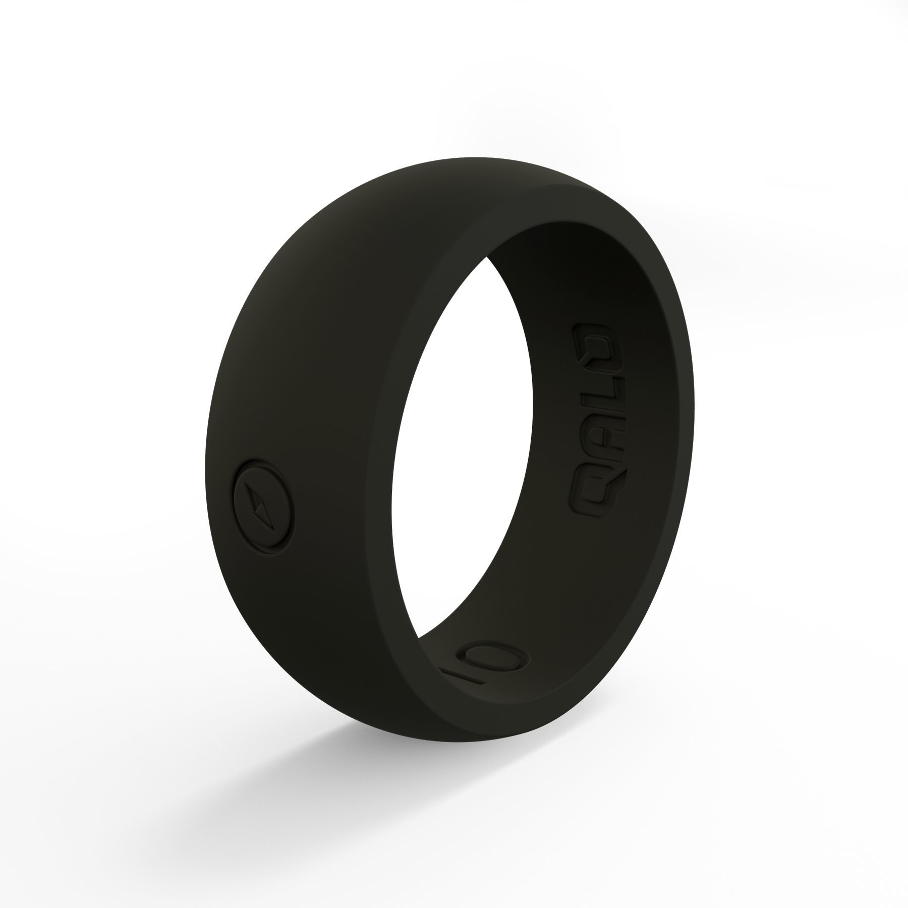 QALO Men's Classic Silicone Ring, Size 10, Black